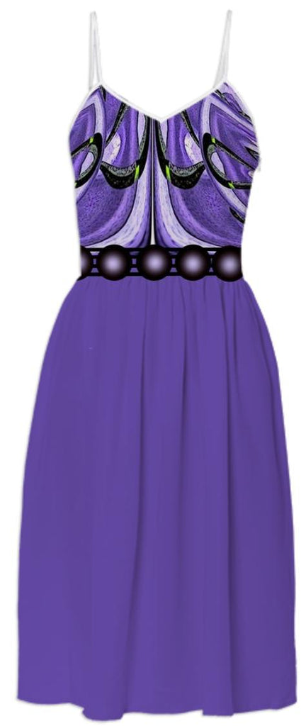 Purple Belted Summer Dress