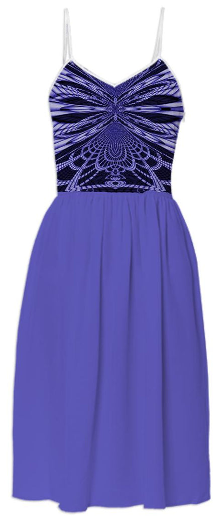 Purple Black Lace Top Summer Dress