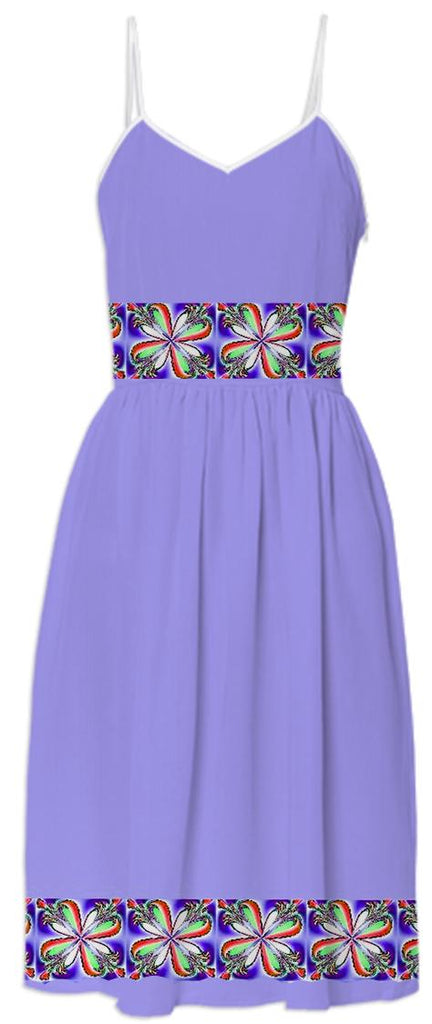 Purple Dogwood Flower Summer Dress
