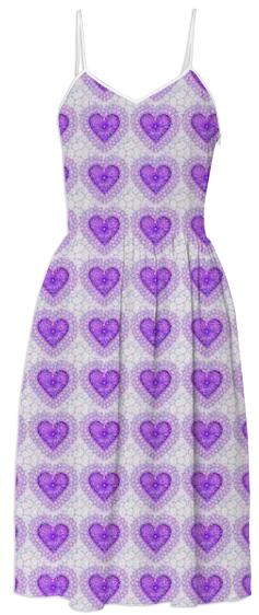 Purple Hearts Summer Dress