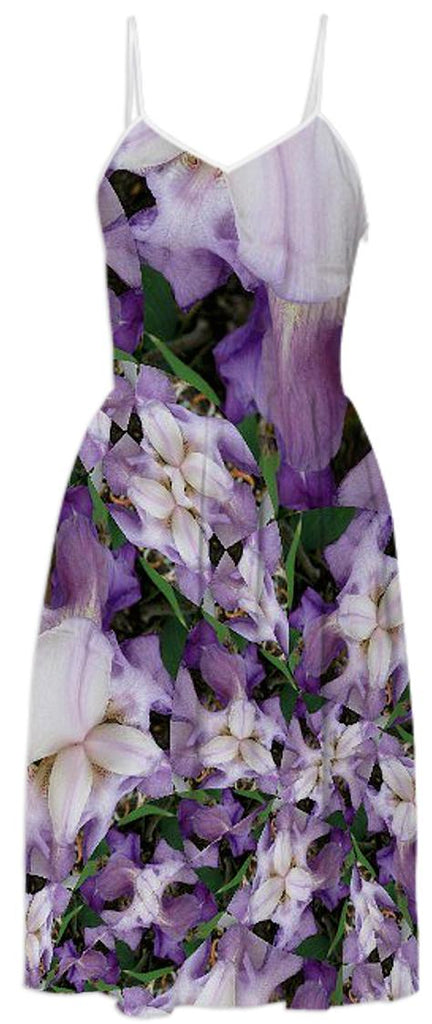 Purple Iris 2 Summer Dress