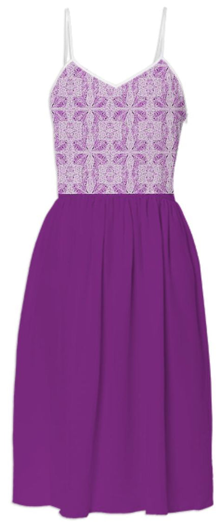 Purple Lace Top Summer Dress