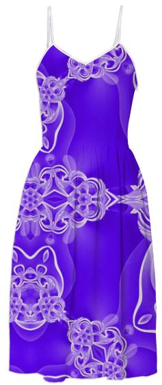 Purple on Purple Abstract Summer Dress
