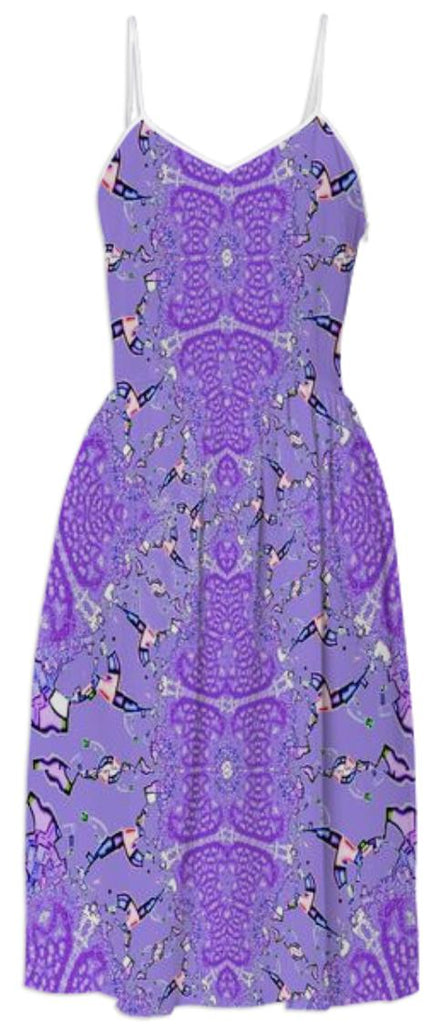 Purple on Purple Fractal Summer Dress