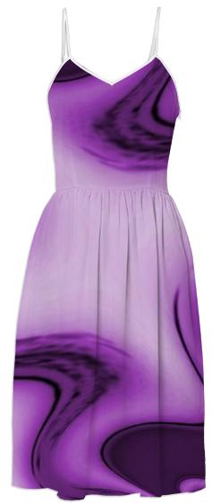 Purple Passion Abstract 2 Summer Dress
