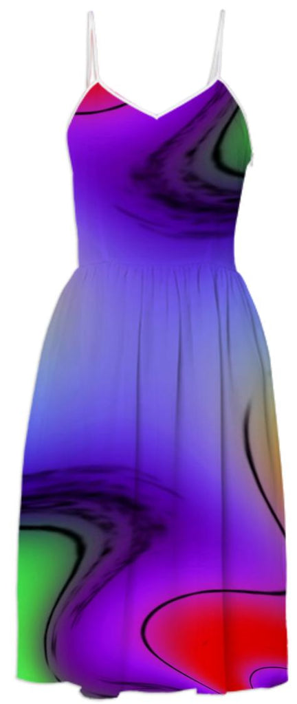 Purple Passion Abstract Summer Dress