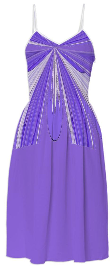Purple White Summer Dress 2