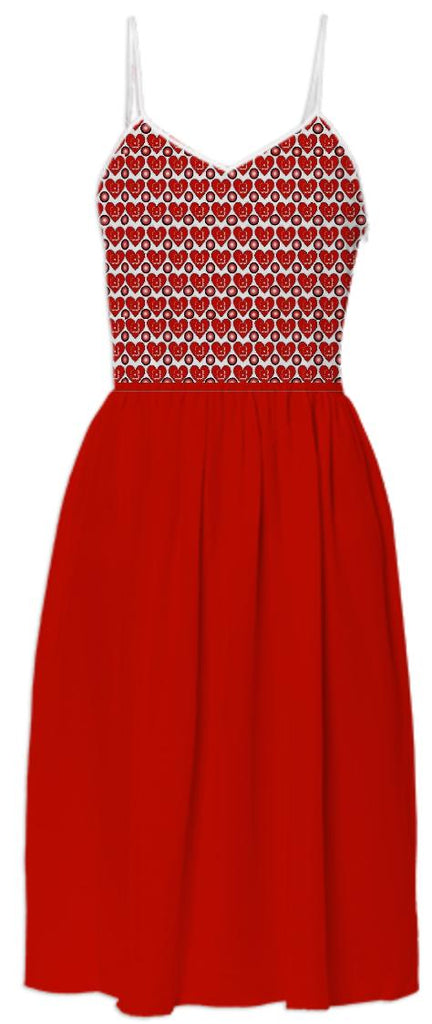 Red Hearts Summer Dress