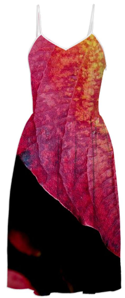 Red leaf dress