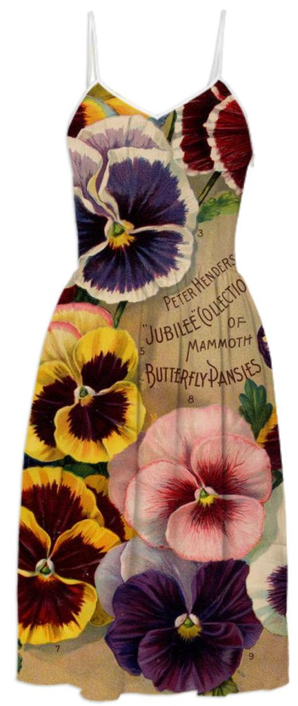 Seed Catalog Dress Pansies