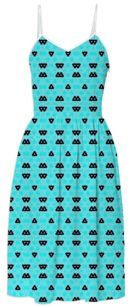 Space Alien Triangles Dress