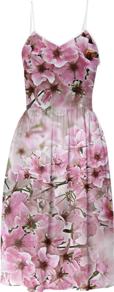 Springtime Cherry Blossom Summer Dress