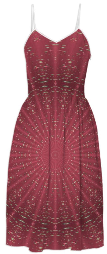 Summer and Sophisticated Mandala Pink Summer Dress