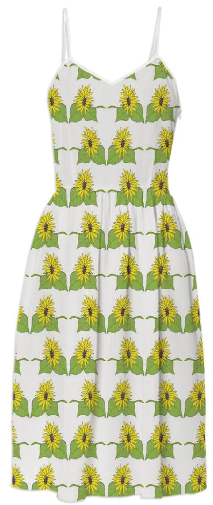 Sunflower Painting Summer Dress