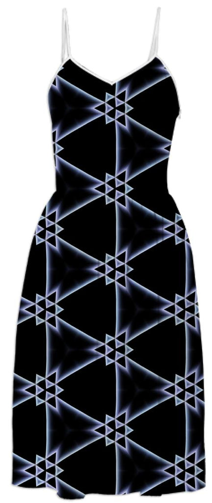 Triangles on a Black Dress