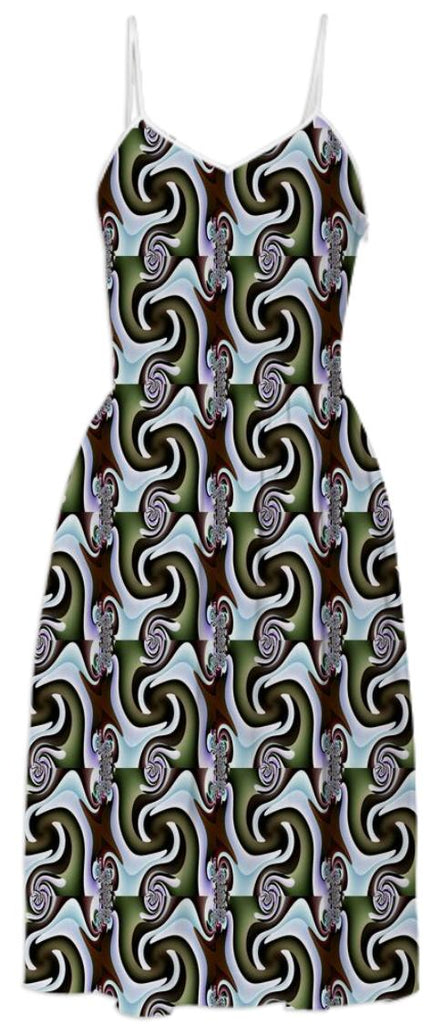 Two Feet Square Pattern Summer Dress