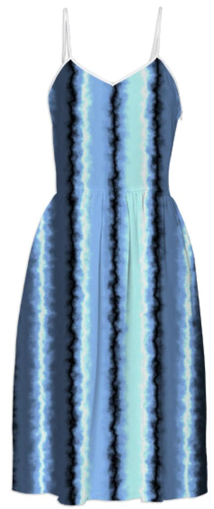 Watery Blue Stripes Dress