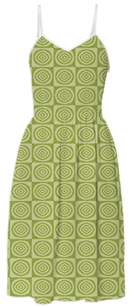 Yellow Circles Summer Dress