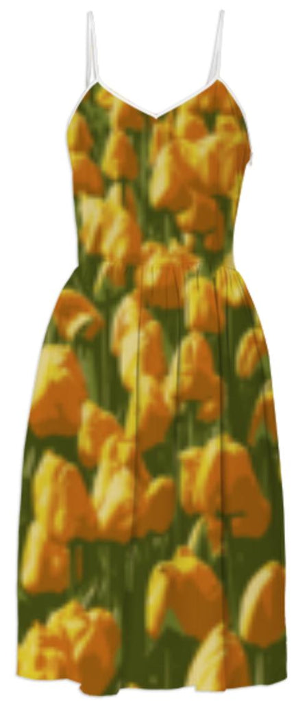 Orange Tulips Dress