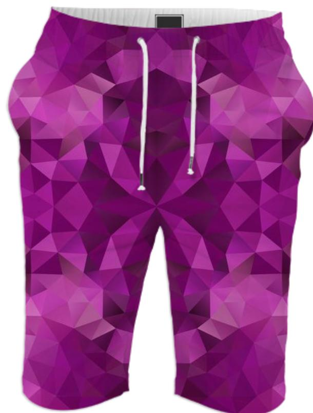 POLYGON TRIANGLES PATTERN VIOLET PURPLE ABSTRACT POLYART GEOMETRIC