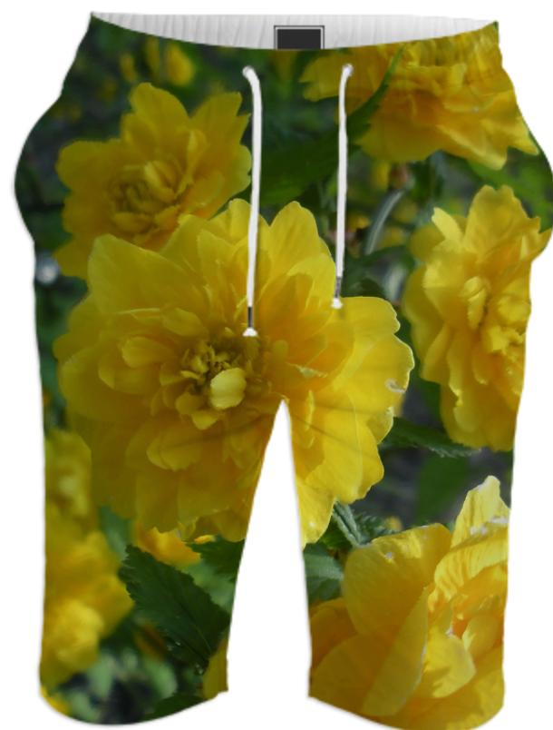Yellow Flowers 1701 Shorts
