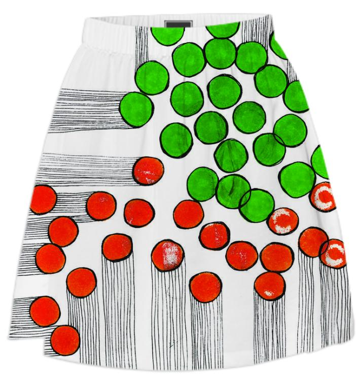 bingo burst skirt