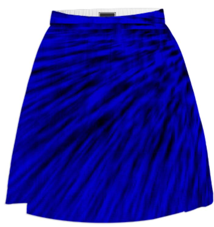 Black Ocean Blues Skirt