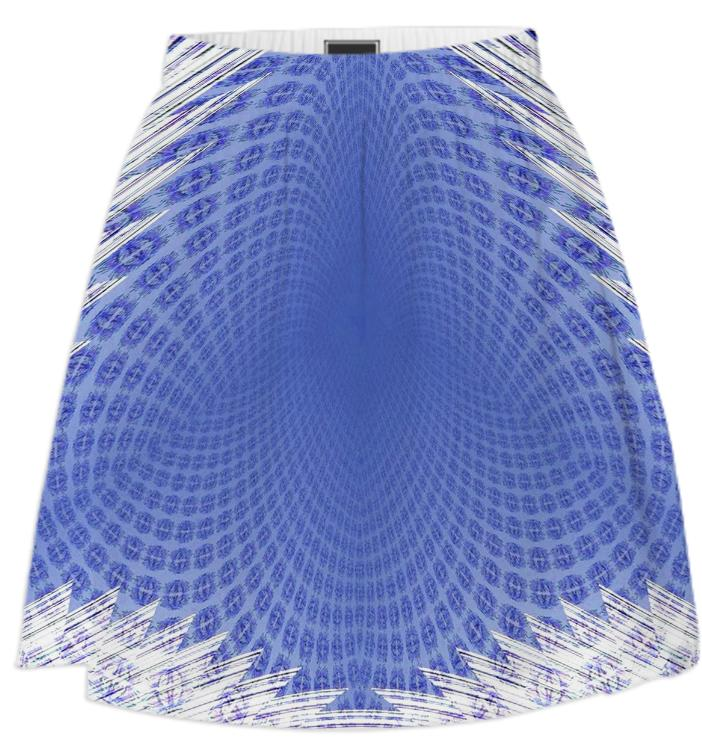 Blue White Web Summer Skirt