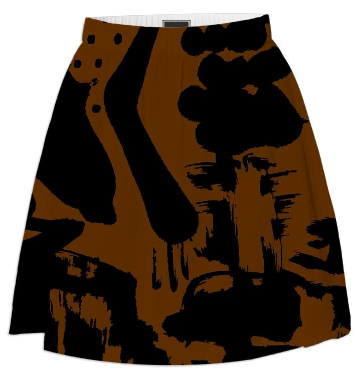 PAOM, Print All Over Me, digital print, design, fashion, style, collaboration, fort-makers, fort makers, Summer Skirt, Summer-Skirt, SummerSkirt, Brown, Islands, spring summer, unisex, Poly, Bottoms