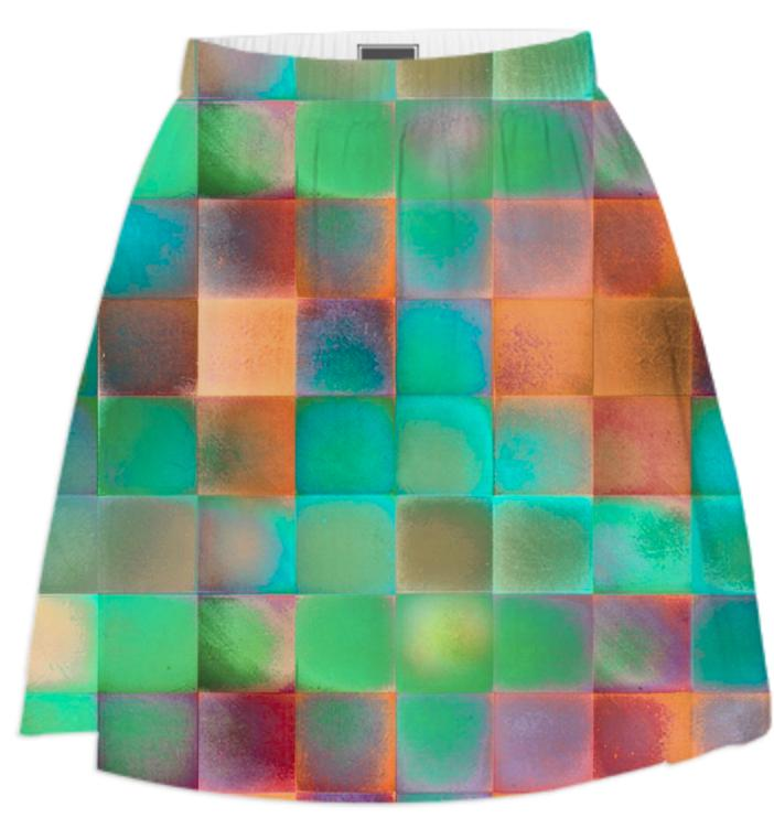 CHECKED DESIGN II Summer Skirt I