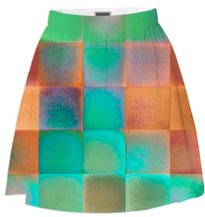 CHECKED DESIGN II Summer Skirt III
