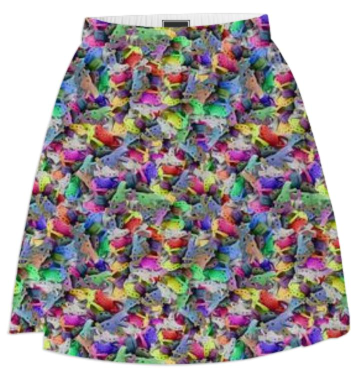 PAOM, Print All Over Me, digital print, design, fashion, style, collaboration, zoe-schlacter, zoe schlacter, Summer Skirt, Summer-Skirt, SummerSkirt, Crocs, spring summer, unisex, Poly, Bottoms