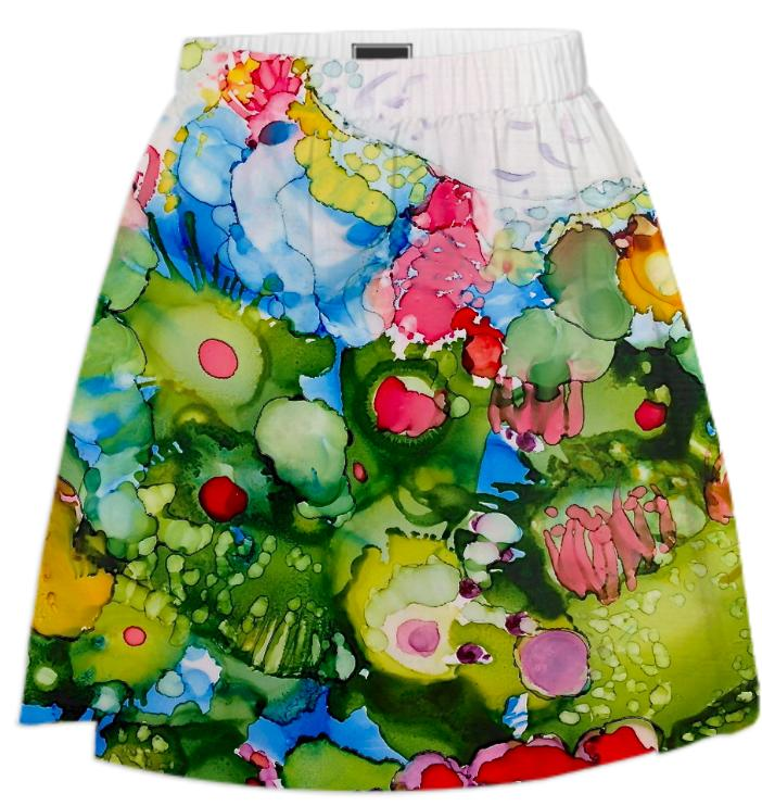 Deep Reef with Window of Light Summer Skirt