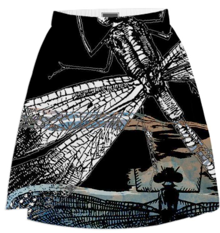 Dragonflies Summer Skirt 2