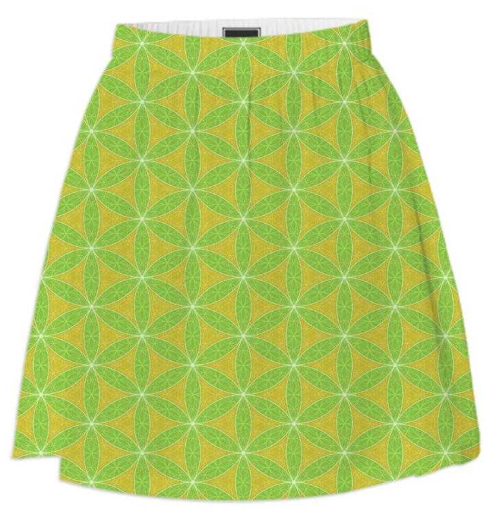 Flowering Of Life Skirt