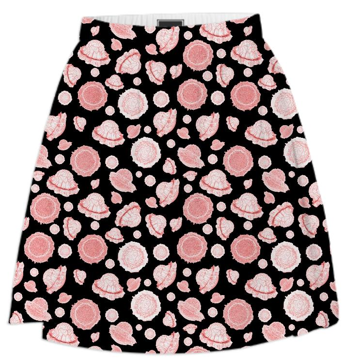 galactic flower pink summer skirt
