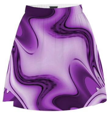 Purple Passion Abstract 2 Summer Skirt