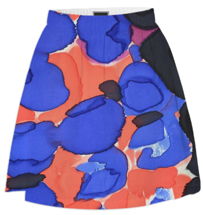 PAOM, Print All Over Me, digital print, design, fashion, style, collaboration, fort-makers, fort makers, Summer Skirt, Summer-Skirt, SummerSkirt, Red, Blue, Pods, spring summer, unisex, Poly, Bottoms
