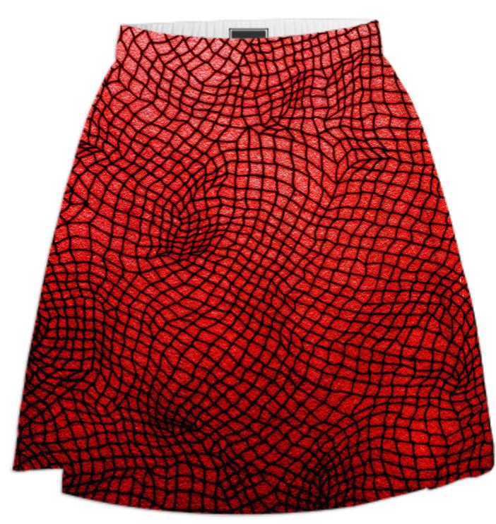 red net skirt