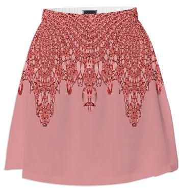 Red on Red Lace Summer Skirt
