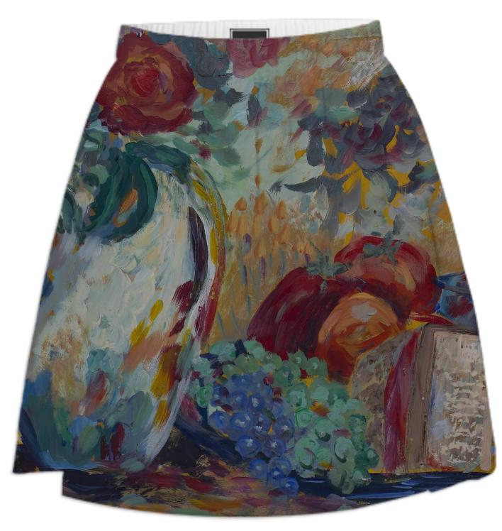 Still Life with Roses Summer Skirt