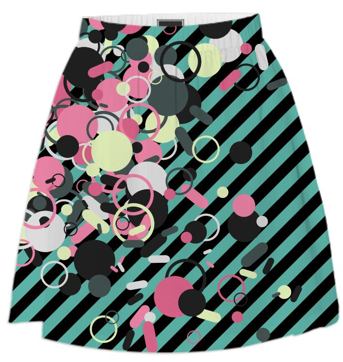 Striped Invaders Summer Skirt