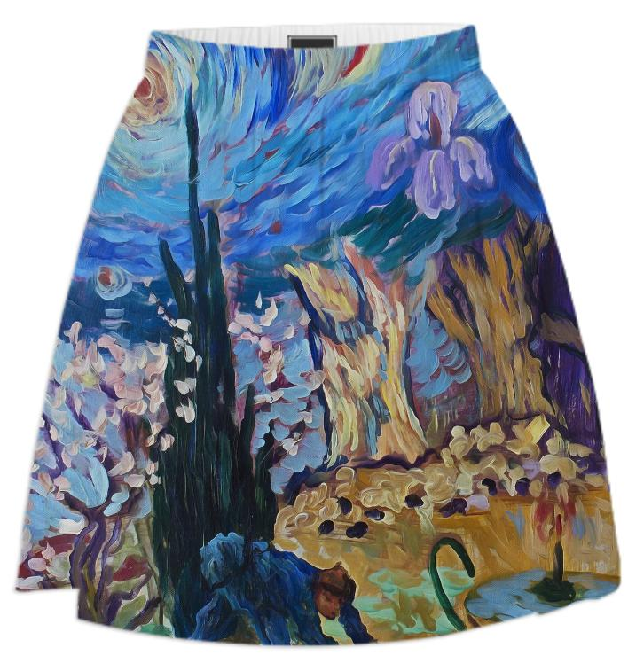 Van Gogh Spirit Summer Skirt