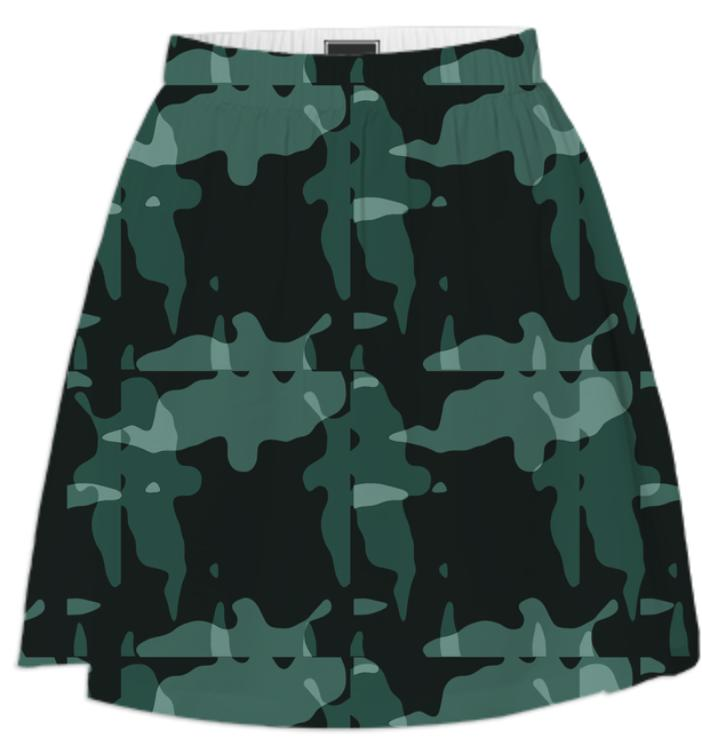 ABSTRACT CAMOUFLAGE SUMMER SKIRT
