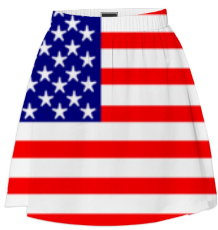 USA Stars and Stripes Skirt