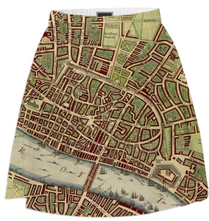 Vintage Map of London 17th Century