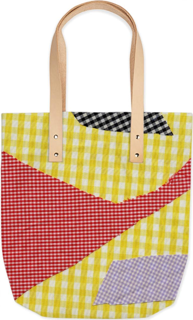 PAOM, Print All Over Me, digital print, design, fashion, style, collaboration, cheryl-donegan, cheryl donegan, Summer Tote, Summer-Tote, SummerTote, broken, gingham, multi, spring summer, unisex, Poly, Bags
