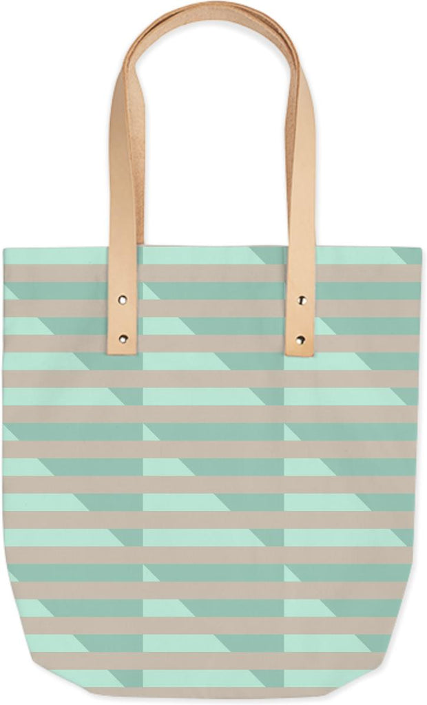 Doublemint Houndstooth Summer Tote