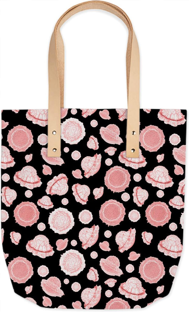 galactic flower pink summer tote