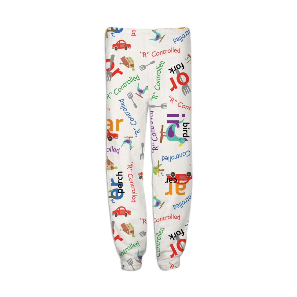 Alphabet R Controlled vowel inspired sweatpants GIANT print